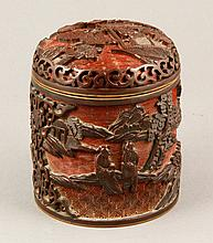 Chinese Copper Covered Jar
