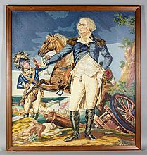 After Trumbull, George Washington, Needlepoint