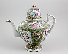 19th/20th C. Rose Medallion Teapot