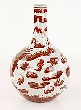 Chinese Red Dragon Vase