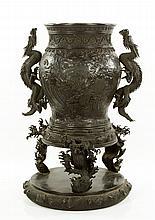 19th C. Japanese Bronze Urn