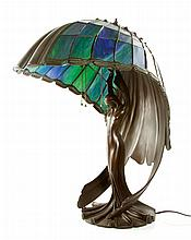 Tiffany Style Flying Lady Lamp