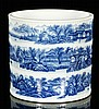 Chinese Blue and White Brush Pot
