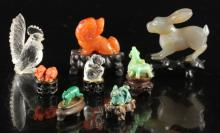 Eight Pieces Carved Animals