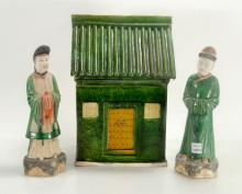Ming Dynasty Pottery Couple and House