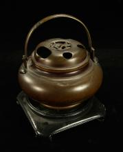 Small Asian Bronze Hand Warmer