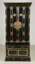 Japanese Meiji Period Lacquered Shrine Cabinet