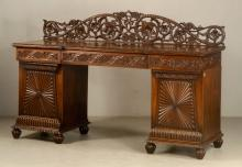 19th C. Carved Anglo Indian Server