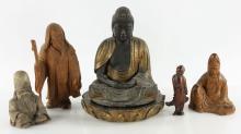 Five Carved Figures