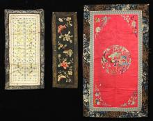 Three Asian Silk Embroidered Textiles