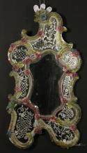 Art Nouveau Venetian Glass Mirror