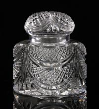 Baccarat Cut Glass Inkwell