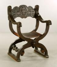 19th C. Savonarola Style Chair