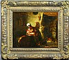 19th C., Interior with Mother and Child, O/C