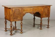 William and Mary Style Burl Walnut Sideboard