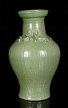 Chinese Green Glazed Vase, Porcelain