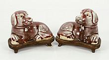 Pair Chinese Statues of Dogs, Ceramic