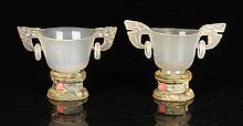 Pr. Chinese Republic Period Cups, Agate