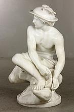 19th C. Italian Sculpture of Mercury, Marble