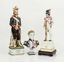 Lot of 3 Porcelain Figures