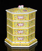 Chinese Famille Rose Stacking Trays, Porcelain