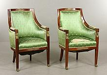 Pair French Empire II Bergeres