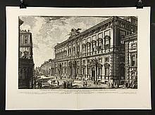 """Piranesi, """"Veduta del Palazzo … sul Quirinale… della Sacra Consulta,"""" Print"""