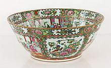 19th C. Chinese Rose Medallion Bowl, Porcelain