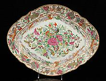 Chinese Canton Rose Medallion Tazza