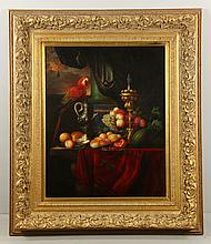 After Heem, Still Life with Parrot, O/C