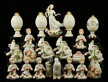 Lot of 20 Cybis Items, Porcelain