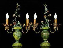 Pr. Italian Painted Candelabras