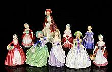 Lot of 9 Royal Doulton Figures