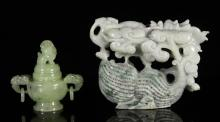 Two Chinese Carved Jade Items