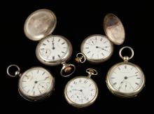 5 Silver Pocket Watches