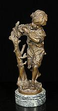 Moreau, Figure of a Boy, Bronze
