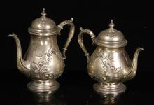Fisher Sterling Teapot and Coffee Pot