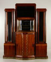 Austrian Secessionist Sideboard Vitrine