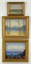 Curtis, 3 Oil Paintings