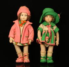 Two French Cloth Dolls
