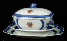 Chinese Export Armorial Soup Tureen