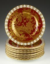 Set of 12 Royal Crown Derby Plates