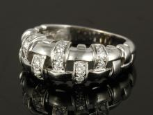 Tiffany 18K Gold Basket Weave Ring