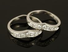Pair of Tiffany & Co Platinum Bands