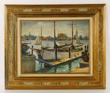 Beaumont, Boats at Dock, W/C