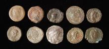 Lot of 10 Roman Coins