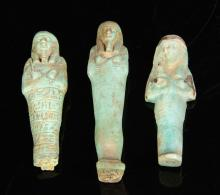 Trio of Egyptian Ushabti
