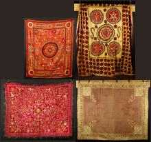 Lot of 16th-18th C. Persian and Indian Textiles
