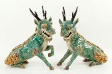 Pr. Chinese Porcelain Qilins