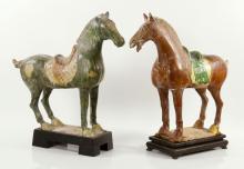 Pair of Chinese Glazed Horses